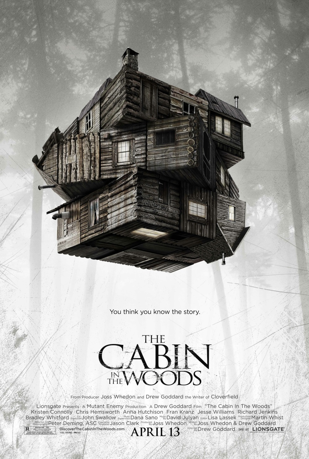 Nieuwe teaserposter The Cabin in the Woods