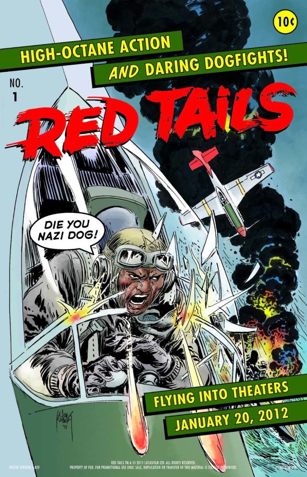 Coole retro-poster Red Tails