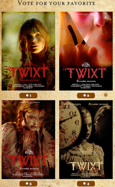 Vier posters Francis Ford Coppola's Twixt