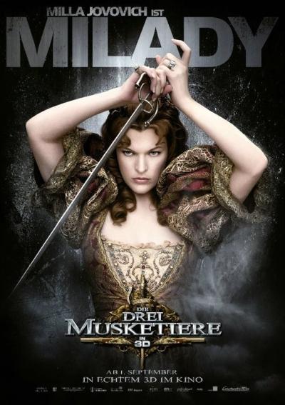Heel veel personageposters van The Three Musketeers