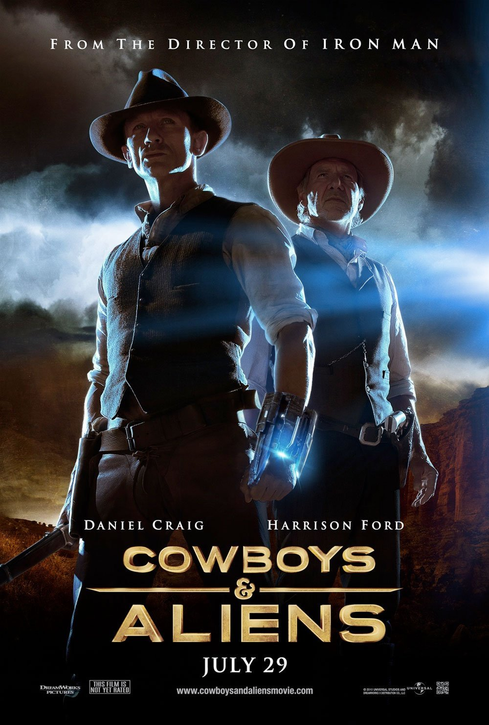 Cowboys & Aliens poster & featurette