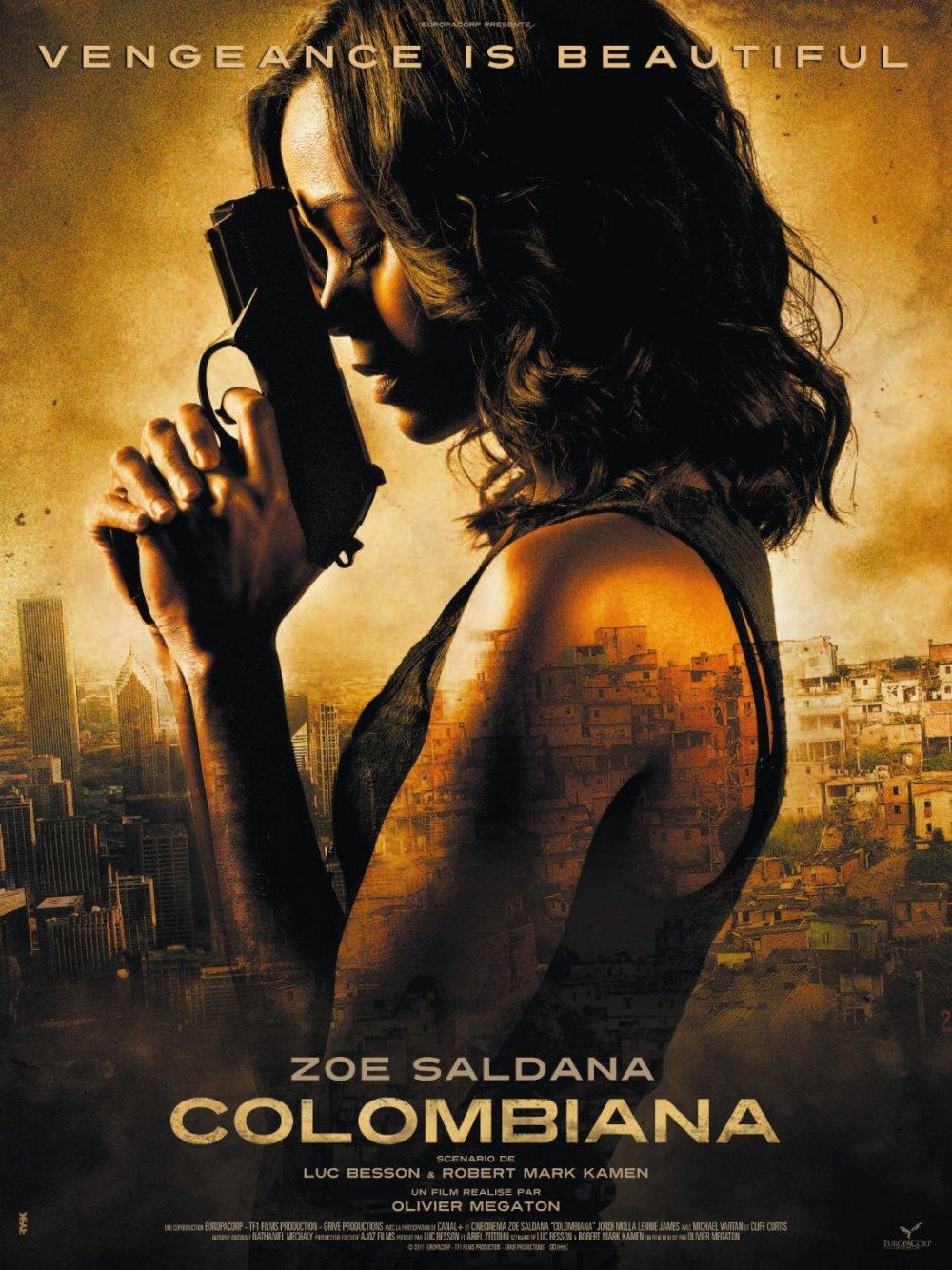 Eerste Colombiana poster met Zoe Saldana