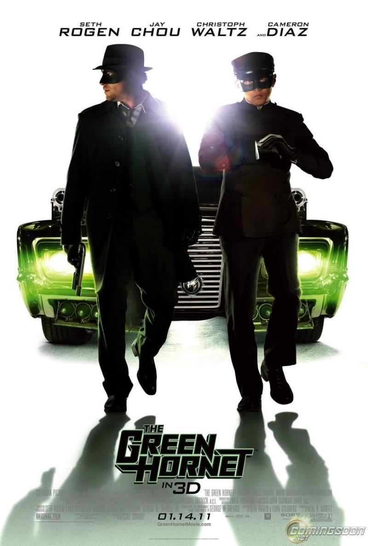 Gloednieuwe poster The Green Hornet