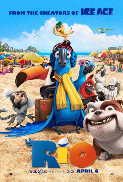 Kleurrijke nieuwe poster Rio