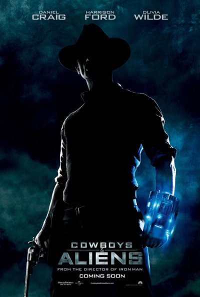 Nieuwe Cowboys and Aliens filmposter