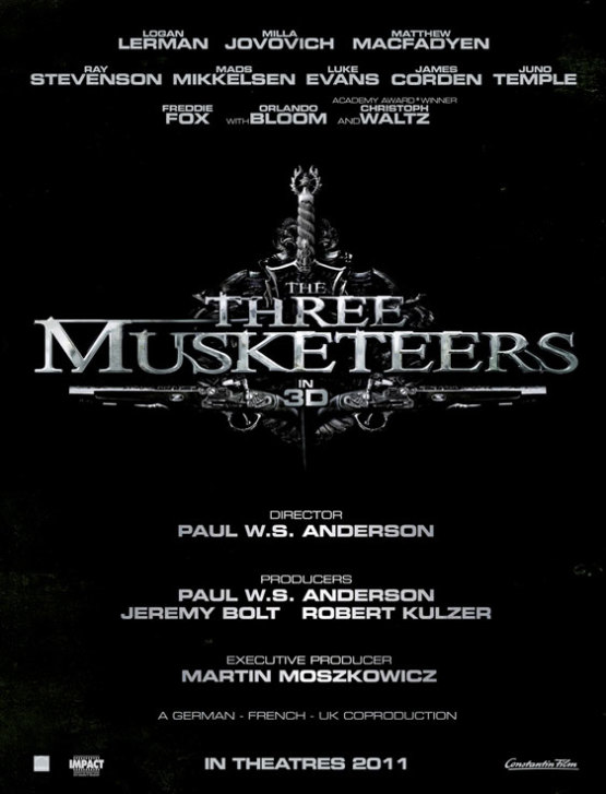 The Three Musketeers teaserposter