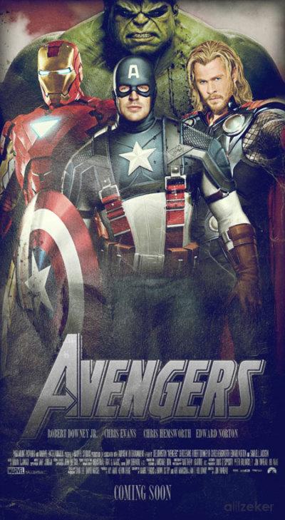 Nieuwe reeks The Avengers fan-posters