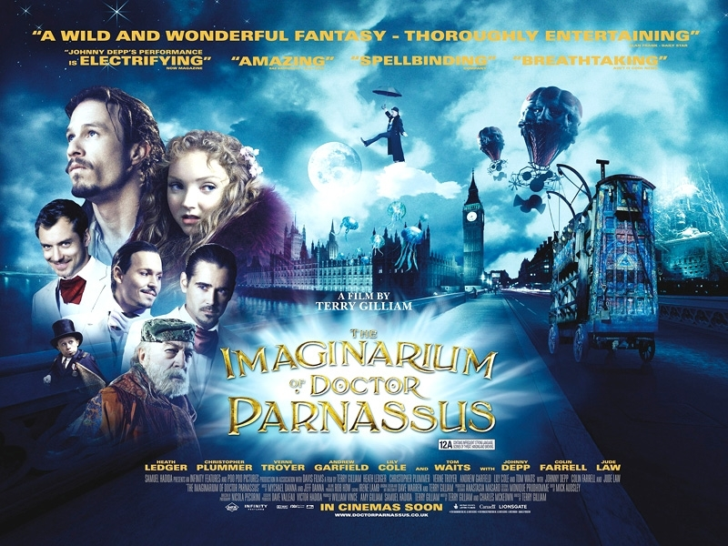 UK poster The Imaginarium of Dr. Parnassus