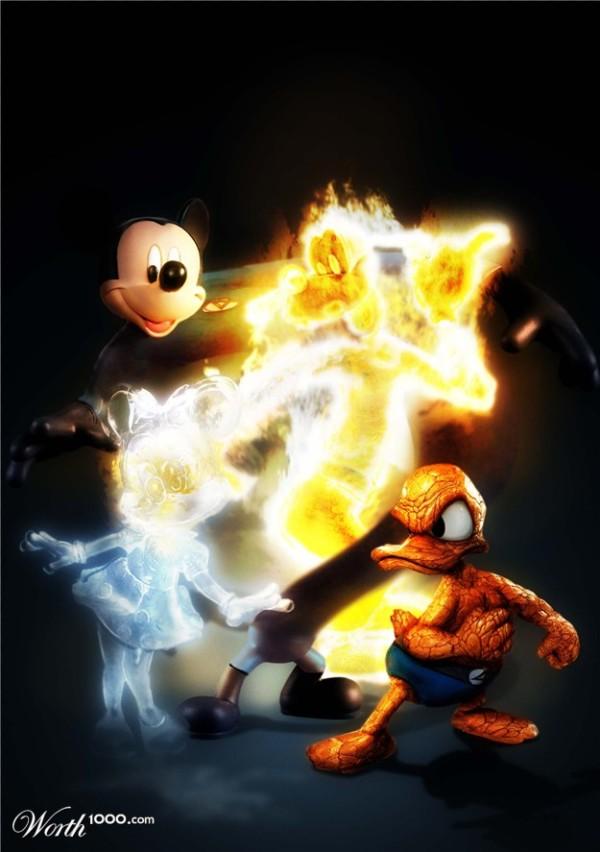 Marvel & Disney hybrides