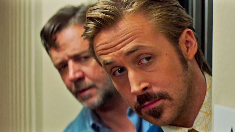 Gosling & Crowe in speciale retro-trailer 'The Nice Guys'