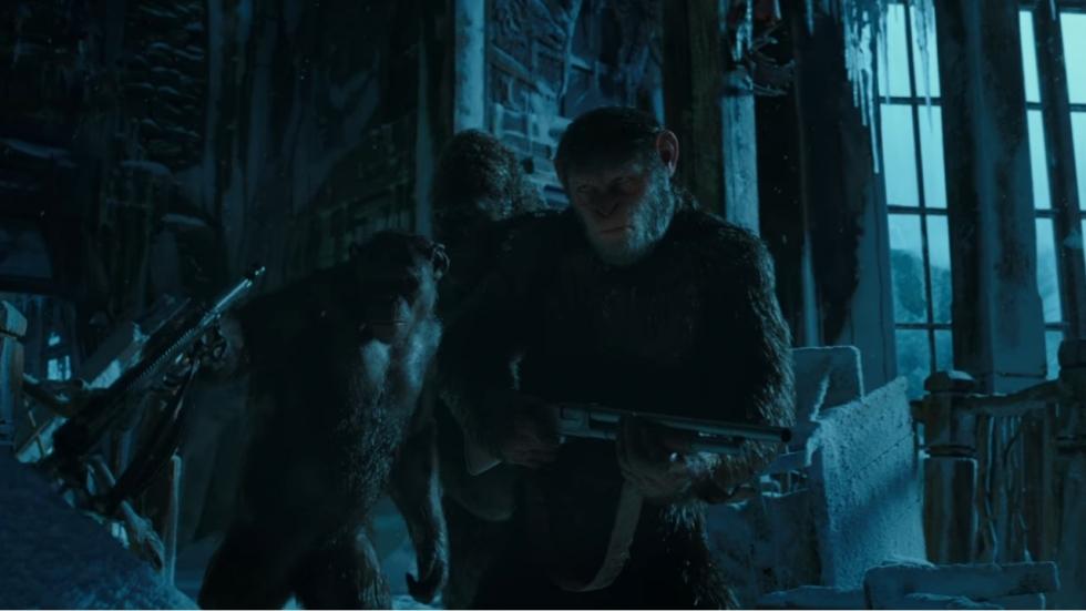 Nieuwe beelden in alternatieve trailer 'War for the Planet of the Apes'