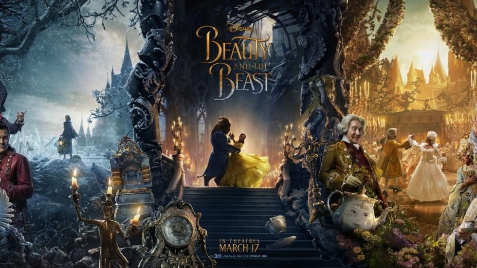 Menselijke vormen hoofdpersonen 'Beauty and the Beast' onthuld op poster