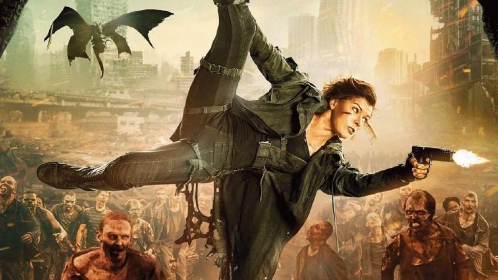 Alice als een soort Batgirl op poster 'Resident Evil: The Final Chapter'