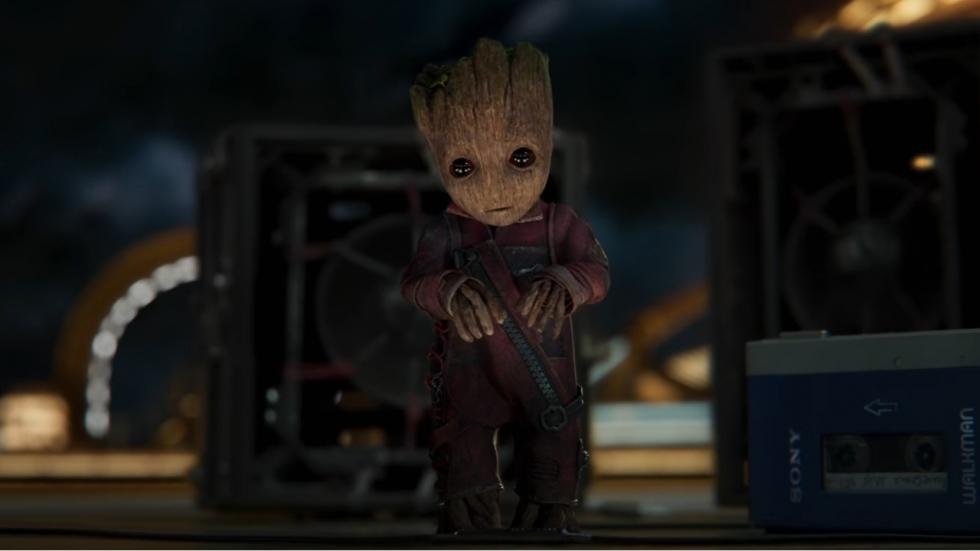 Spektakel en baby Groot in spot 'Guardians Of The Galaxy Vol. 2'