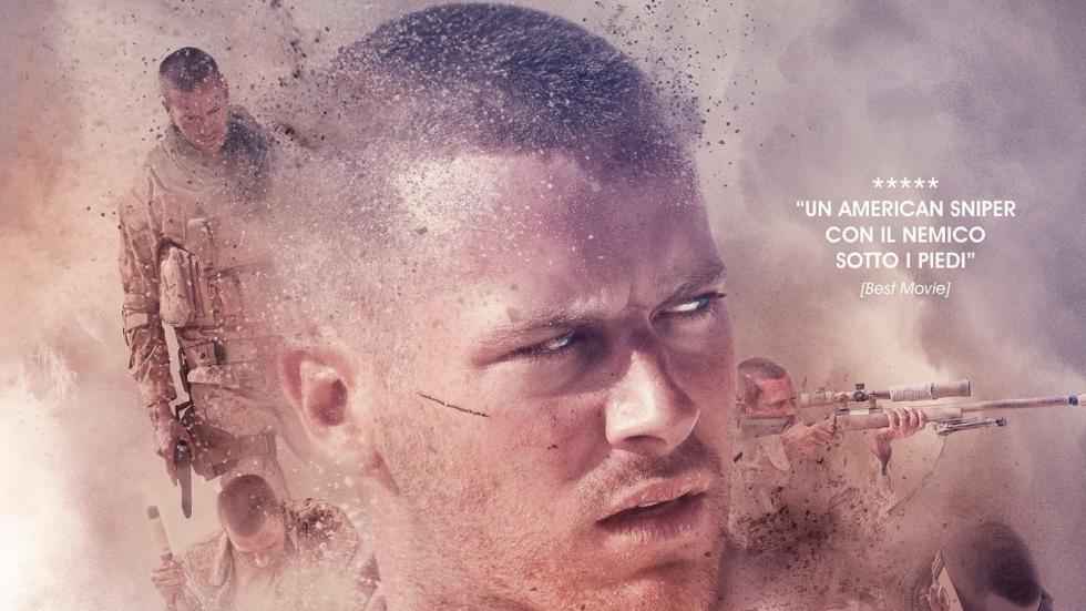Gestrande soldaat Armie Hammer staat in trailer 'Mine' op een landmijn