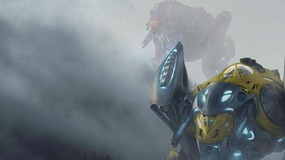Moeilijk te besturen Zord in nieuwe clip 'Power Rangers'