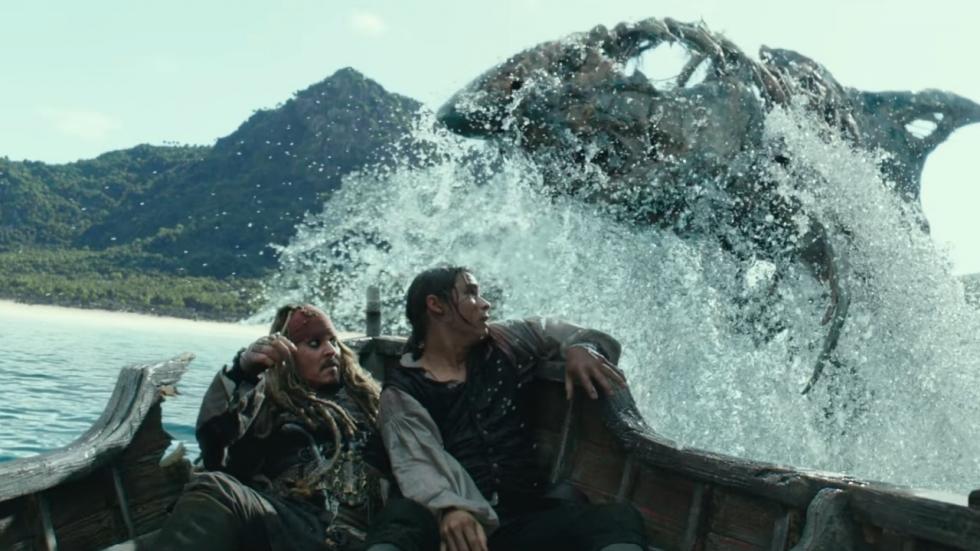 Jack vs. Ghost Shark in tv-spot 'Pirates of the Caribbean: Salazar's Revenge'