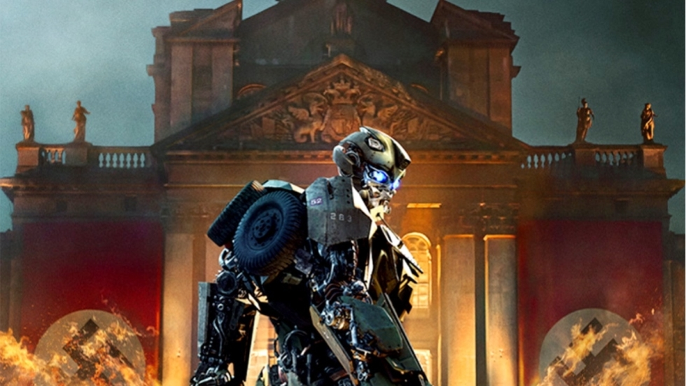 Bumblebee vs. Nazi's op poster 'Transformers: The Last Knight'