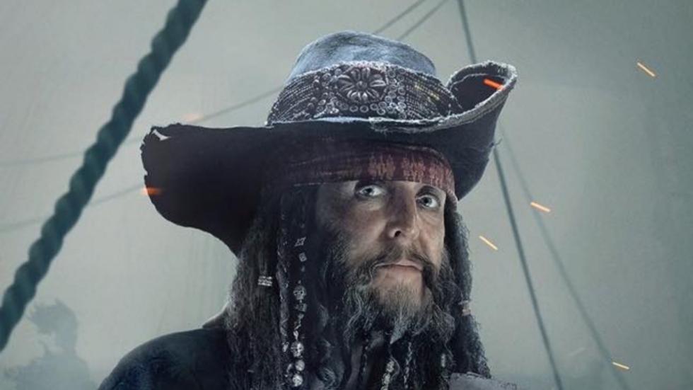 Paul McCartney is een piraat op poster 'Pirates of the Caribbean: Salazar's Revenge'