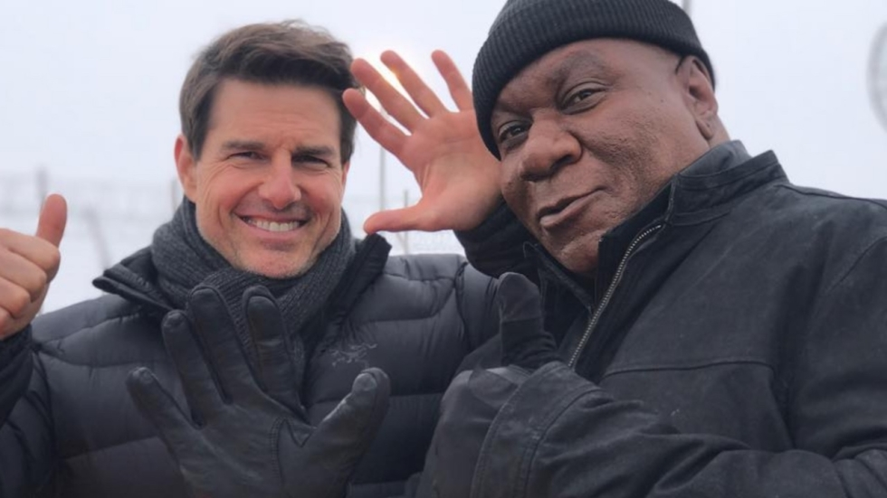 Ethan & Luther op foto 'Mission: Impossible 6'
