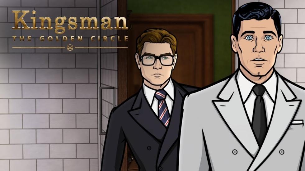 Archer & Kingsman samen in clip 'The Golden Circle'