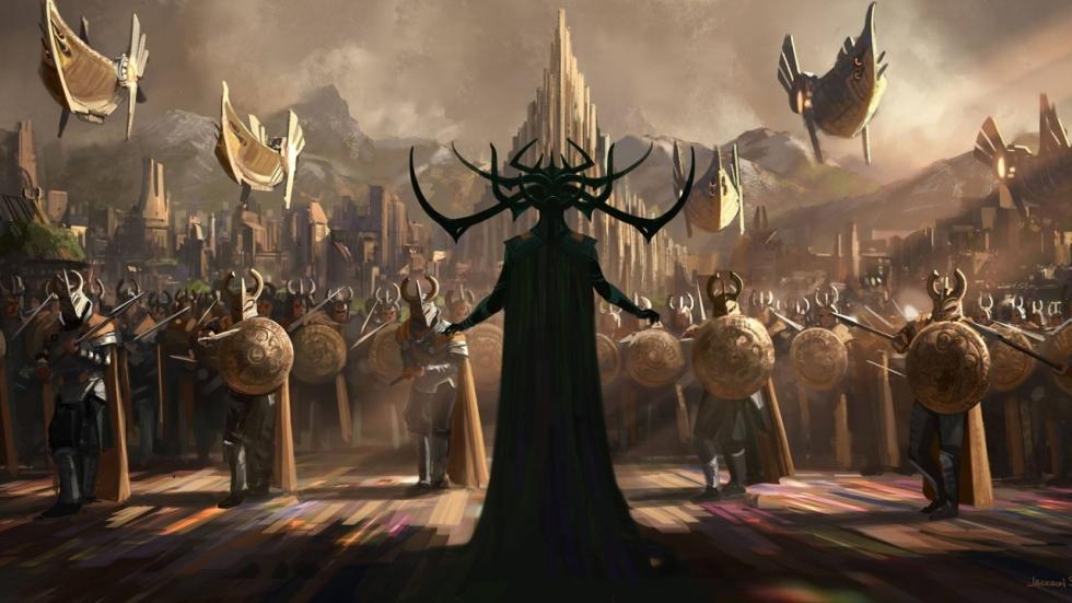 Cast verzameld op poster 'Thor: Ragnarok'