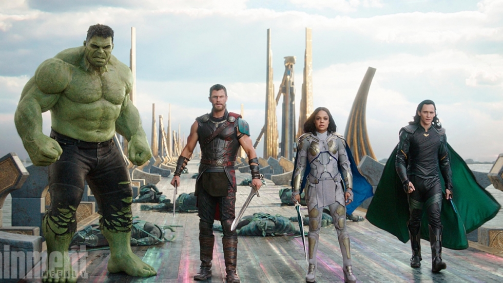 Team Thor op foto 'Thor: Ragnarok'