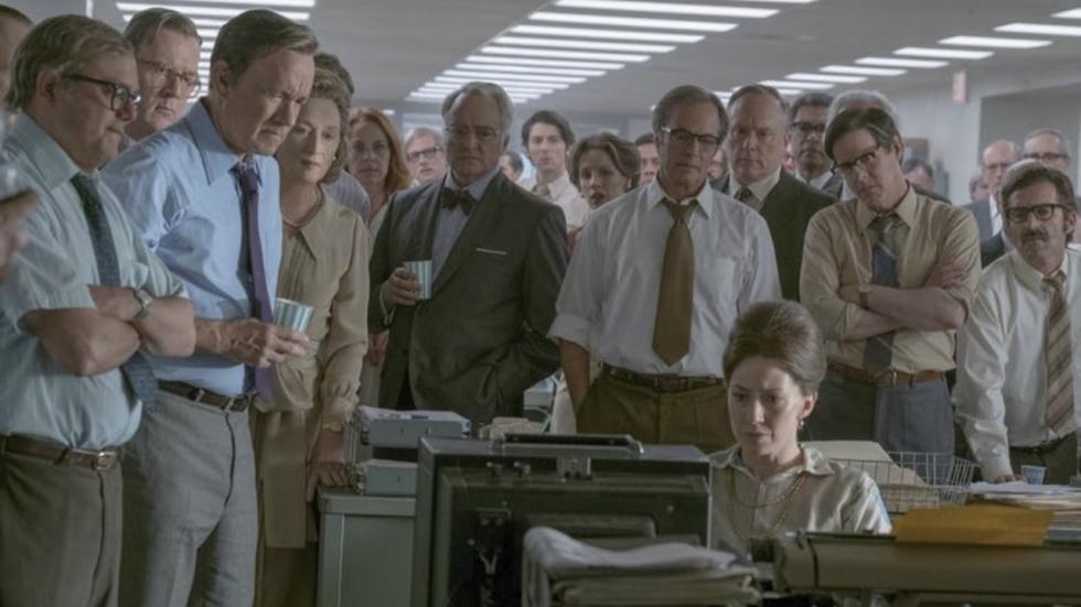 Zeer indrukwekkende cast op eerste beeld Spielberg-film 'The Post'