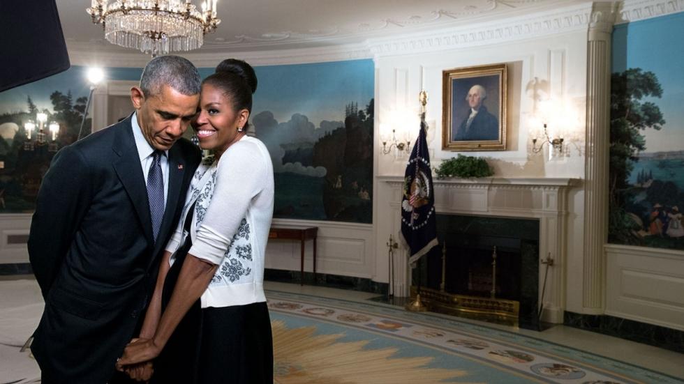 Barack en Michelle Obama in zee met Neflix
