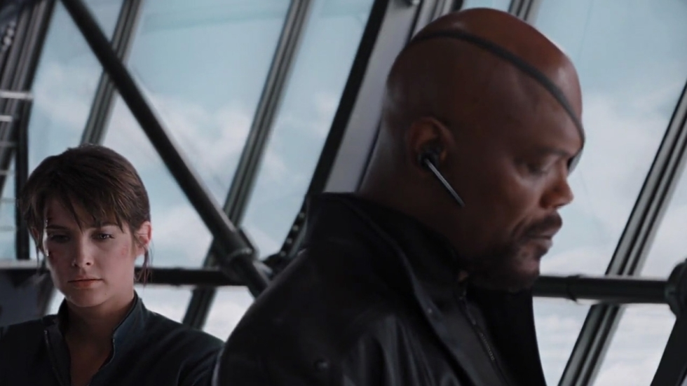 Nick Fury in setvideo 'Spider-Man: Far From Home'!