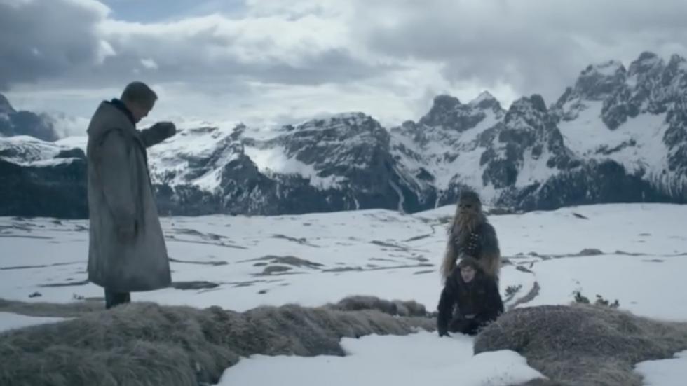 Verwijderde scène 'Solo' toont sullig sneeuwballengevecht met Chewbacca
