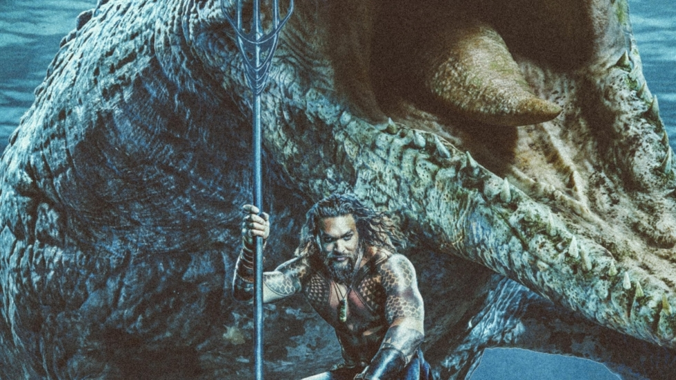 Coole 'Aquaman' beelden met Mosasaurus