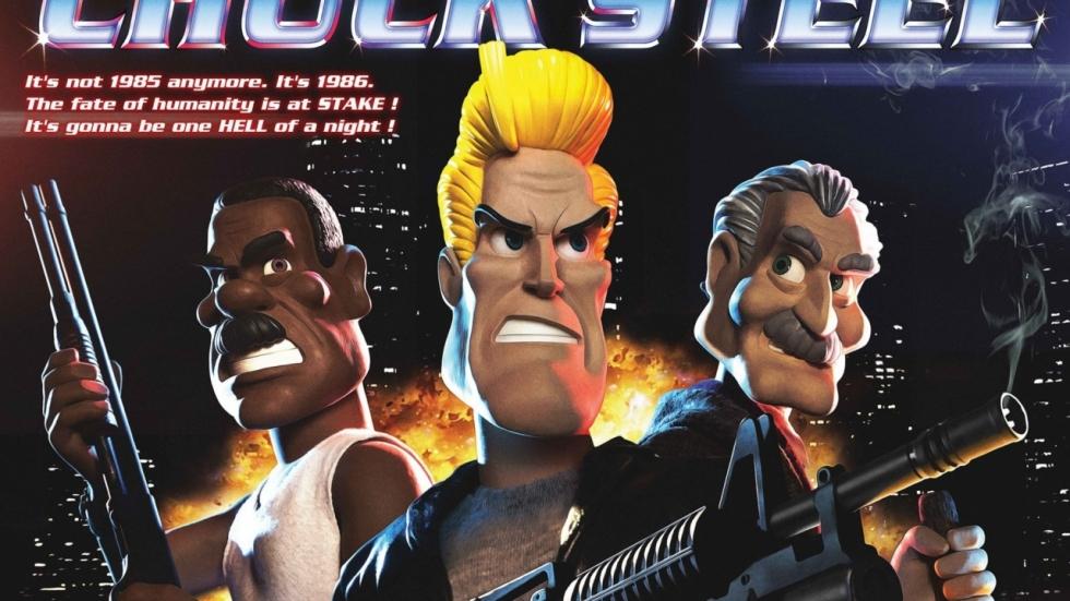 Ondode zwervers worden afgeslacht in clip stop-motionfilm 'Chuck Steel'