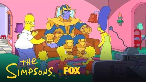 Thanos op bezoek bij 'The Simpsons'