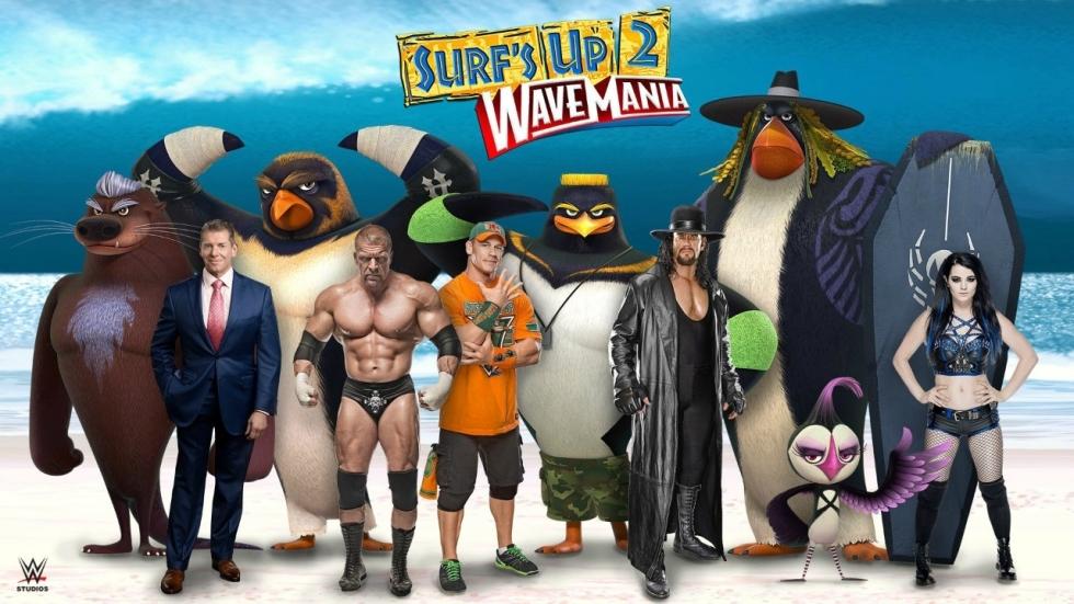 Worstelaars als pinguïns in trailer 'Surf's Up 2: WaveMania'