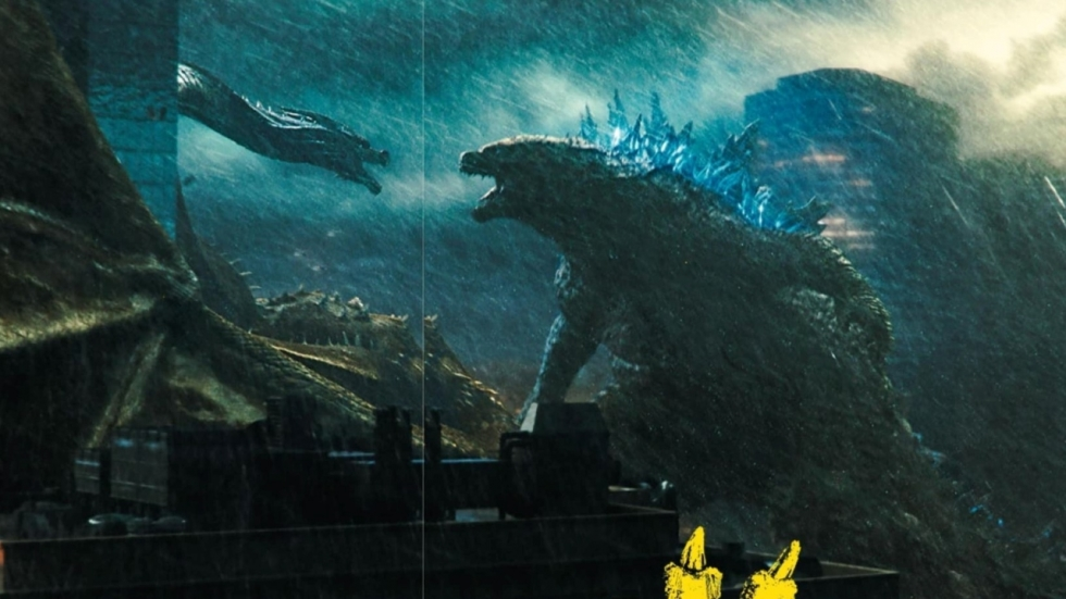 Driekoppige draak vs Godzilla op foto's 'King of the Monsters'