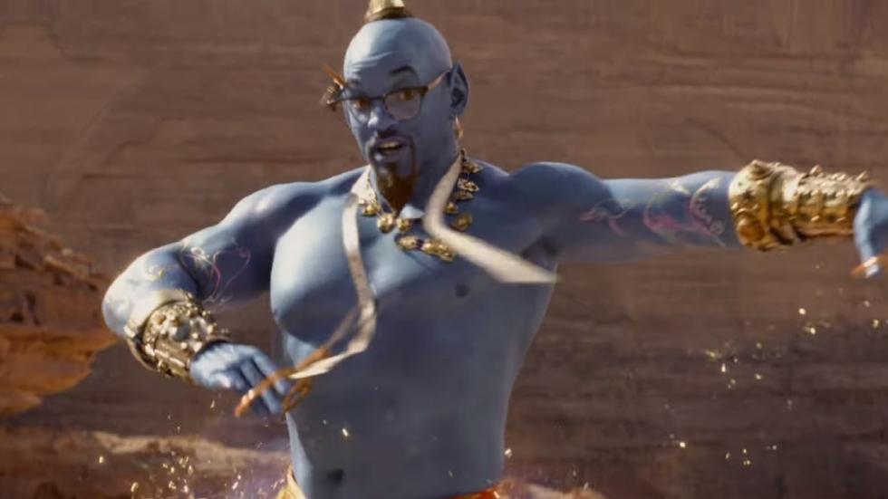 Magische trailer 'Aladdin'; betere (blauwe) Will Smith?