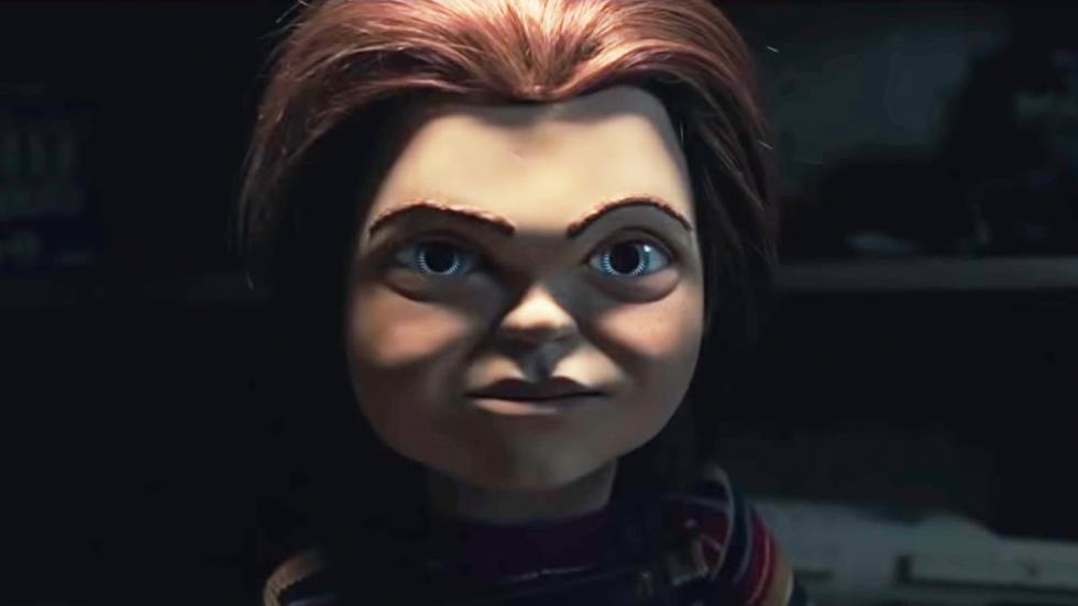Chucky doodt de paashaas op poster 'Child's Play'