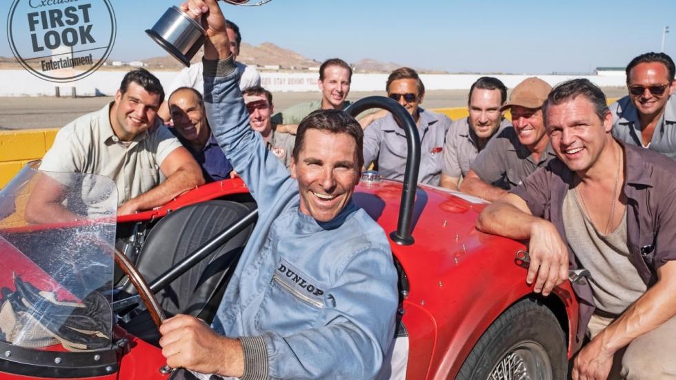 Gave eerste foto's 'Ford v. Ferrari' met Matt Damon en Christian Bale
