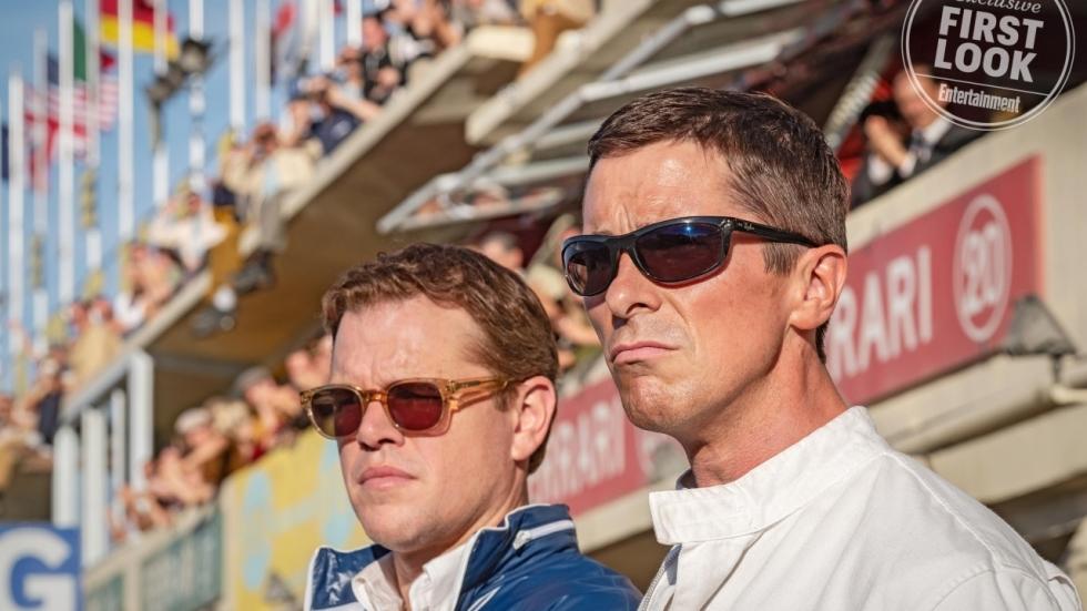 Stijlvolle poster 'Ford v Ferrari' met Christian Bale en Matt Damon!