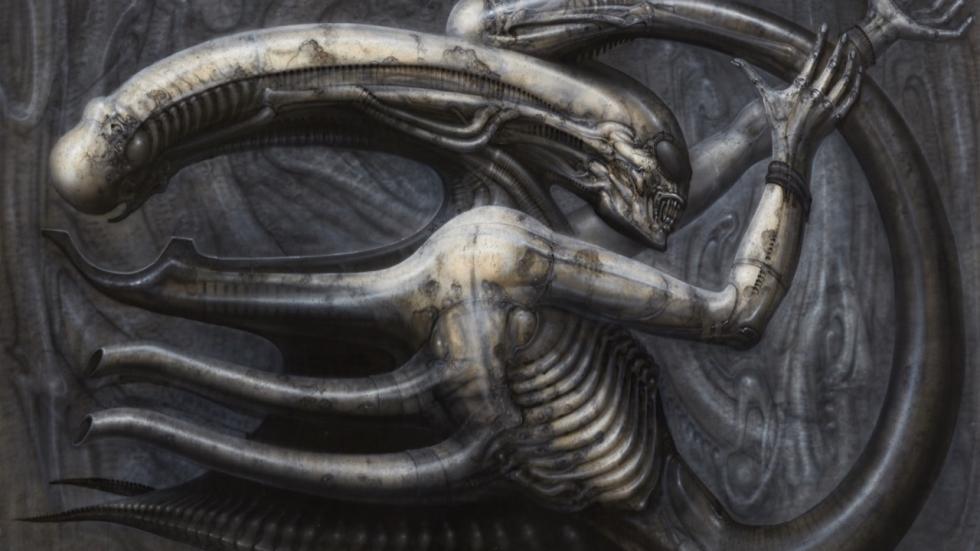 De nachtmerrie-achtige ontwerpen van H.R. Giger geestelijk vader van 'Alien'