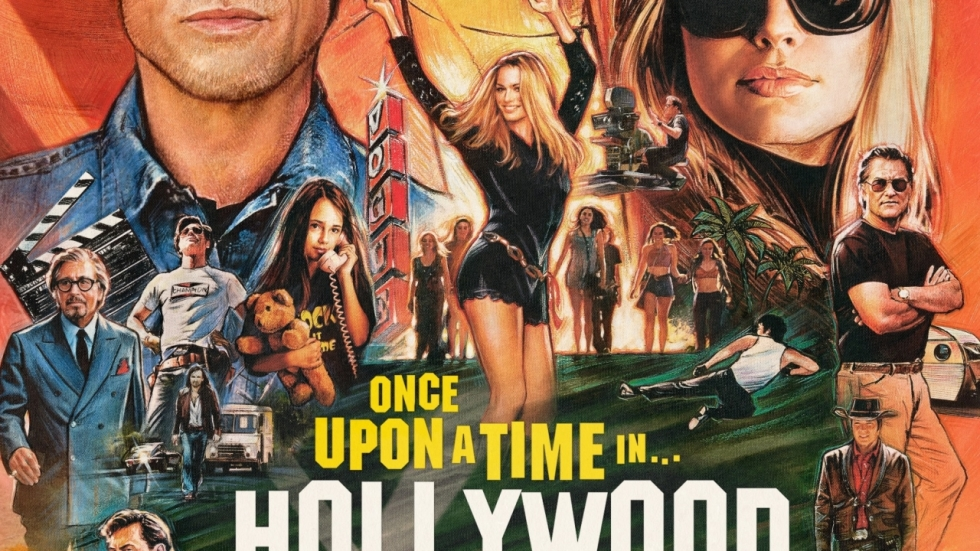 Super gave poster 'Once Upon A Time In Hollywood' van Quentin Tarantino!