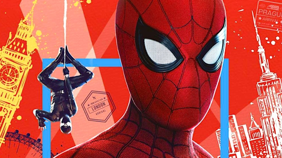 Gave IMAX-poster 'Spider-Man: Far From Home' toont iconisch team in volle glorie