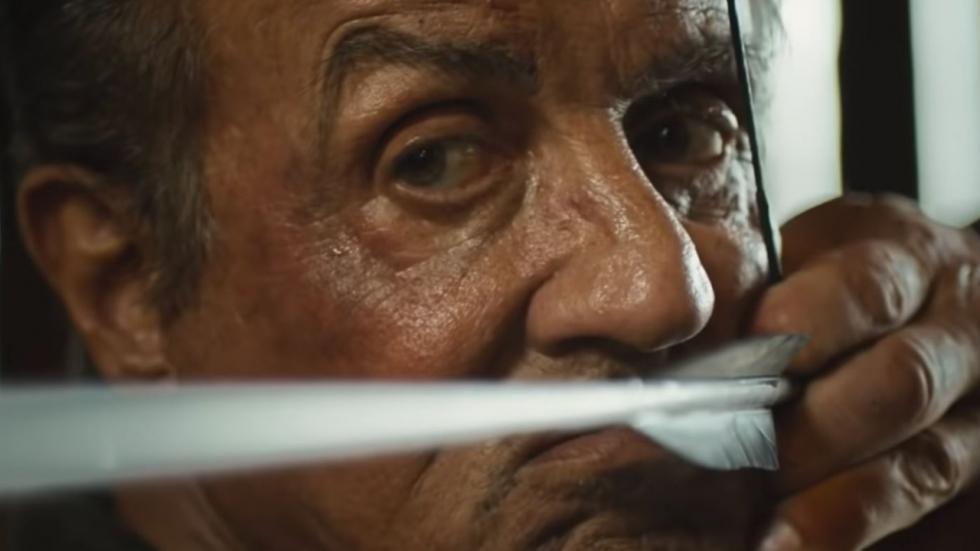 Stallone trekt zijn 'Rambo'-mes op brute poster 'Rambo: Last Blood'