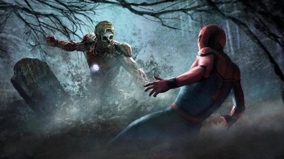 Ongebruikte Iron Man-zombies op concept-art 'Spider-Man: Far From Home'!