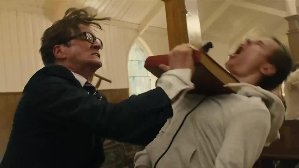 Donald Trump in gewelddadigste scène van 'Kingsman' zorgt voor polemiek