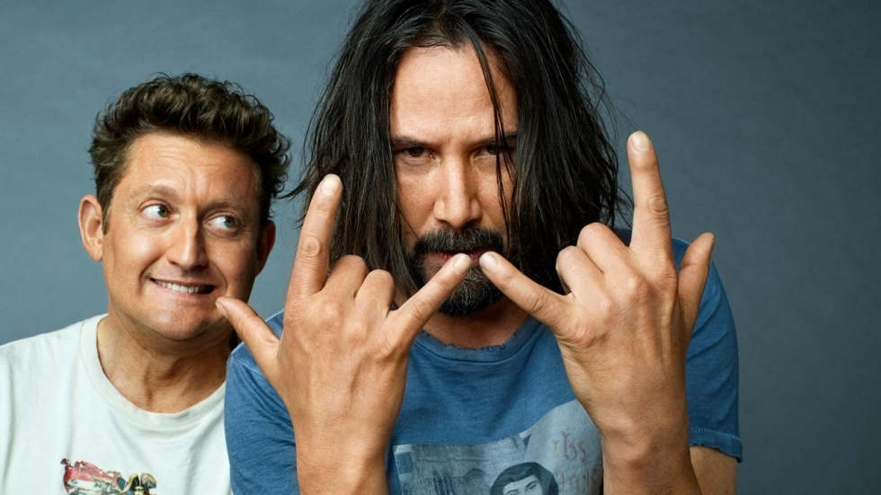 Teaserposter 'Bill & Ted Face the Music' met Keanu Reeves