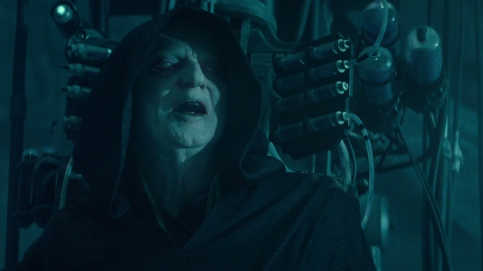 Foto van Empress Palpatine in 'Star Wars: The Rise of Skywalker'