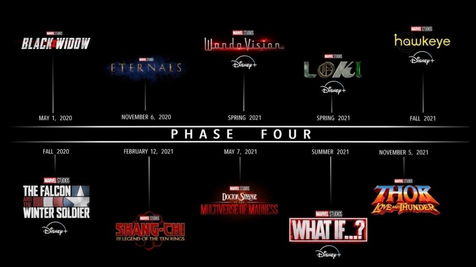 Dit zijn de releasedata van Marvel Studios-films en -series op een rij