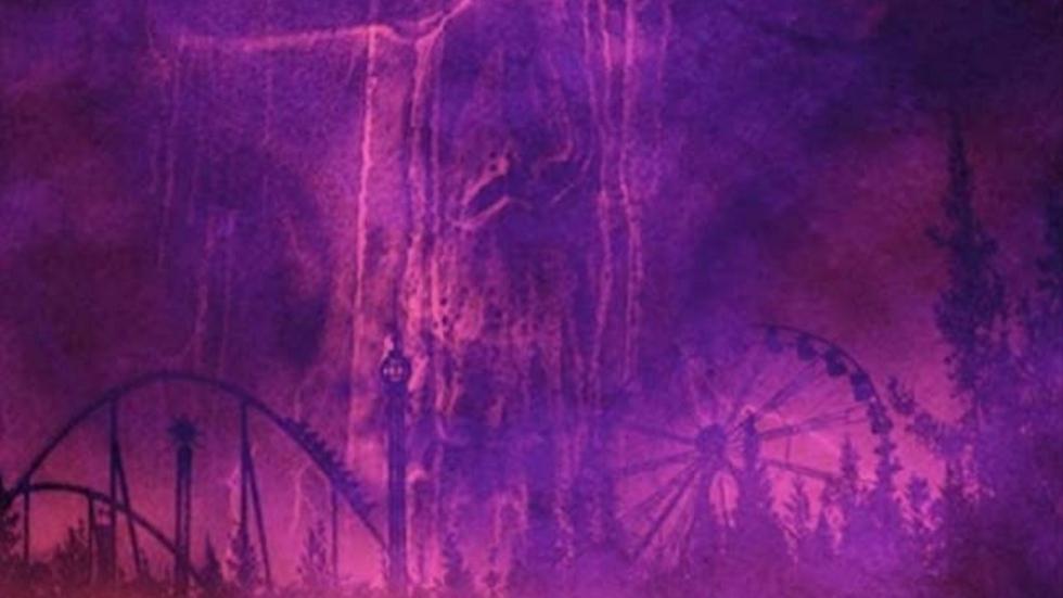 Poster voor pretparkhorror 'Willy's Wonderland' met Nicolas Cage